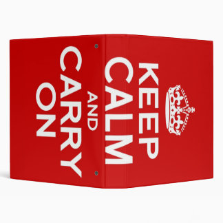 CLASSIC KEEP CALM AND CARRY ON BINDER