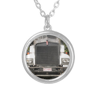Classic Kenworth Truck Silver Plated Necklace