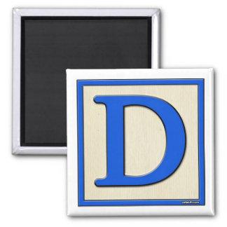 Classic Kids Letter Block D Magnet