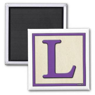 Classic Kids Letter Block L Fridge Magnets