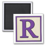 Classic Kids Letter Block R 2 Inch Square Magnet