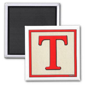 Classic Kids Letter Block T Magnet