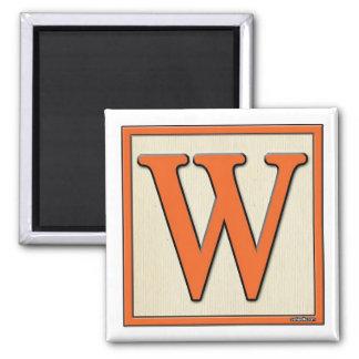 classic kids letter block w magnet