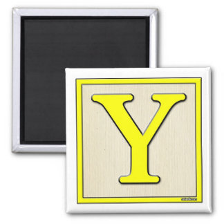 Classic Kids Letter Block Y Magnet