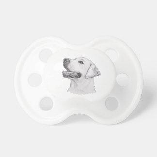 Classic Labrador Retriever Dog profile Drawing Pacifier