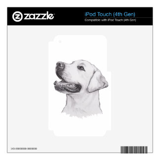 Classic Labrador Retriever Dog profile Drawing Skin For iPod Touch 4G