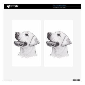 Classic Labrador Retriever Dog profile Drawing Skins For Kindle Fire