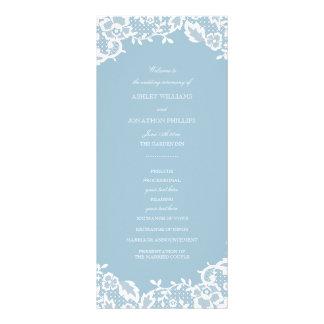 Classic Lace Wedding Program