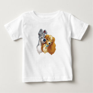 Classic Lady and the Tramp Snuggling Disney Baby T-Shirt