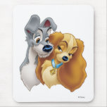 Classic Lady and the Tramp Snuggling Disney Mouse Pad