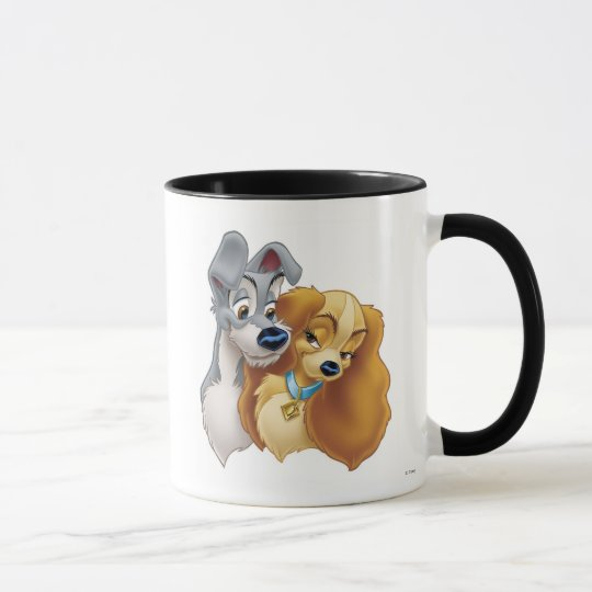Classic Lady and the Tramp Snuggling Disney Mug