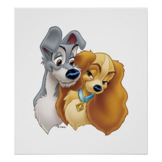 Classic Lady and the Tramp Snuggling Disney zazzle_print