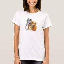 Classic Lady and the Tramp Snuggling Disney T-Shirt