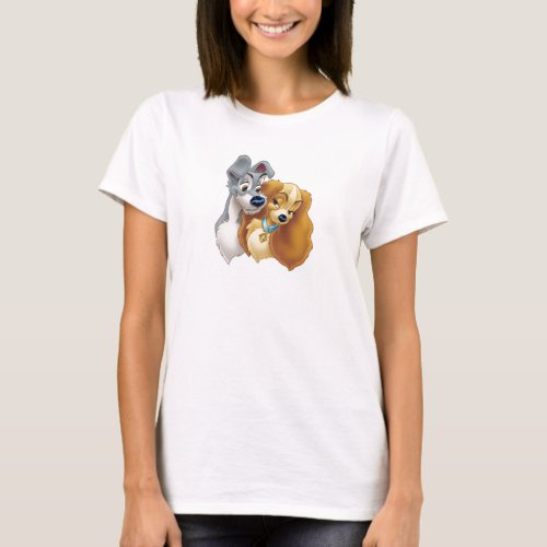 Classic Lady and the Tramp Snuggling Disney T_Shirt