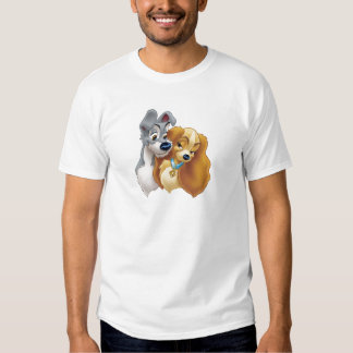 Classic Lady and the Tramp Snuggling Disney T Shirt