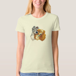 Classic Lady and the Tramp Snuggling Disney Tee Shirt