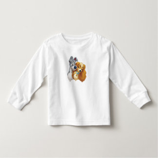 Classic Lady and the Tramp Snuggling Disney Toddler T-shirt
