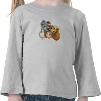 Classic Lady and the Tramp Snuggling Disney T-shirts