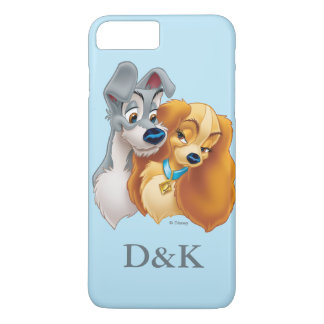 Classic Lady and the Tramp Snuggling | His & Hers iPhone 7 Plus Case
