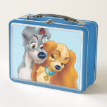"""Classic Lady and the Tramp Snuggling   His &amp; Hers Metal Lunch Box<br><div class=""""desc"""">Lady and the Tramp</div>"""