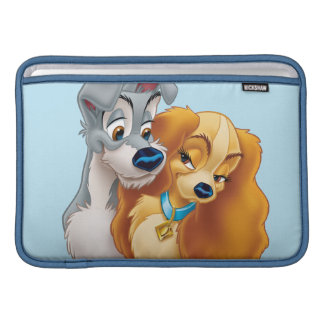 Classic Lady and the Tramp Snuggling MacBook Air Sleeve