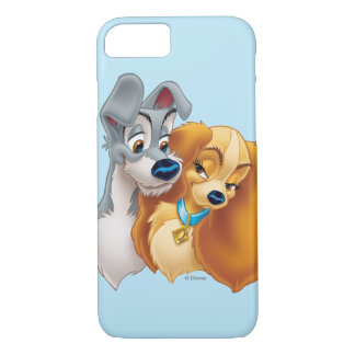 Classic Lady and the Tramp Snuggling iPhone 7 Case