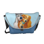 Classic Lady and the Tramp Snuggling Messenger Bag