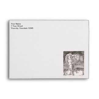Classic Lady of Shalott Tangled in Webs Envelope