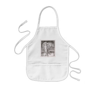 Classic Lady of Shalott Tangled in Webs Kids' Apron