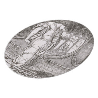 Classic Lady of Shalott Tangled in Webs Dinner Plates