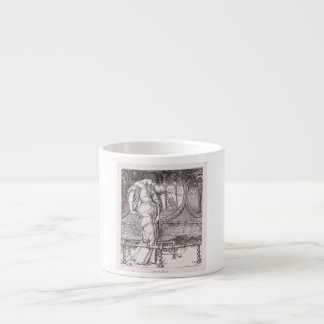 Classic Lady of Shalott Tangled in Webs Espresso Mug