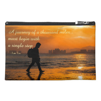Classic Lao Tzu Journey Quote Travel Accessory Bag
