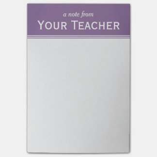 """Classic Lavender Purple Personalized 4"""" x 6"""" Post-it Notes"""