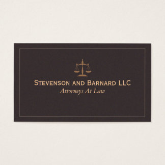Classic Lawyer, Attorney Business Card