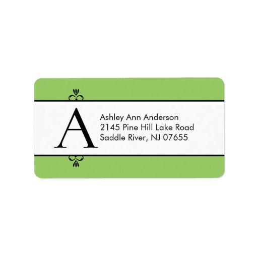 Classic letter a monogram return address labels zazzle for Letter return address labels