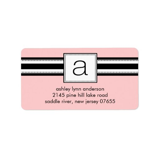 Letter Return Address Labels Classic Letter A Monogram Return Address Labels Label