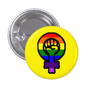 Classic LGBT Feminist Sign Button