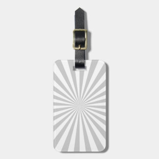 Classic Light Grey Burst Spinning Wheel Luggage Tag