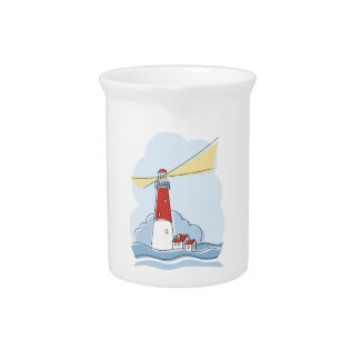 Classic Lighthouse Drink Pitcher