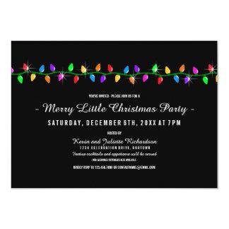 Classic Lights Christmas Party Custom Invites