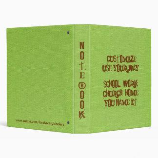 Classic Lime Denim PRINT Notebook Avery Binder