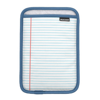 Classic Lined Paper Notebook Pattern for Teachers iPad Mini Sleeves