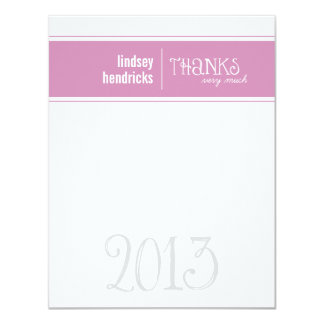 """Classic Lines Graduation Thank You Note Card 4.25"""" X 5.5"""" Invitation Card"""