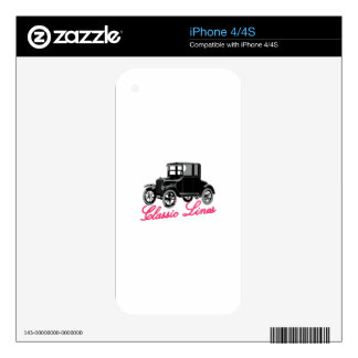 Classic Lines Skin For iPhone 4S