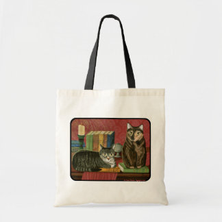 Classic Literary Cats Poe Dickens Stoker Art Bag