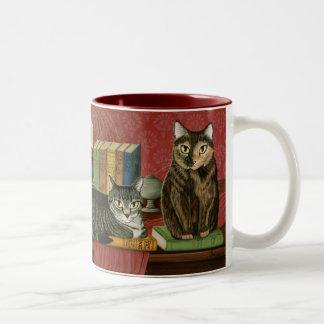 Classic Literary Cats Poe Dickens Stoker Art Mug