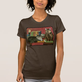 Classic Literary Cats Poe Dickens Stoker Art Shirt