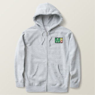 Classic Logo Embroidered Zip Hoody