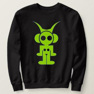 classic logo front -green print sweatshirt