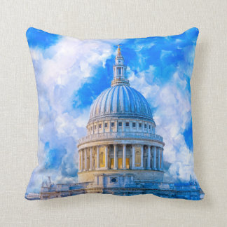 Classic London - Dome of St Paul's Cathedral Throw Pillow